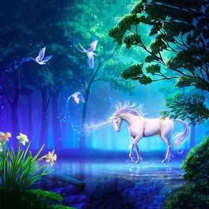 Animal Backdrops Night Backdrop Unicorn Backgrounds G-542