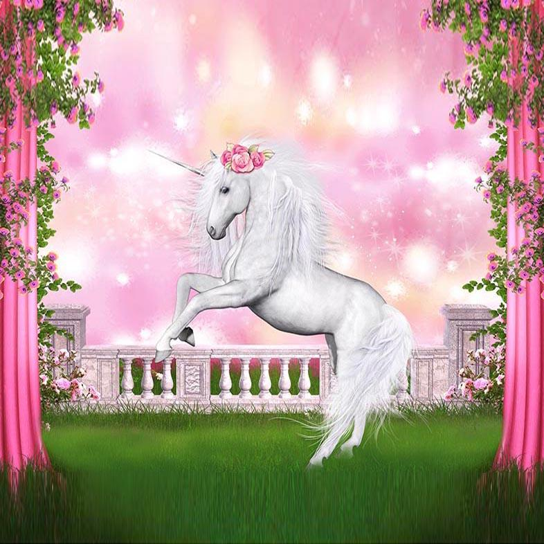 Animal Backdrops Pink Background Backdrops Unicorn G-550