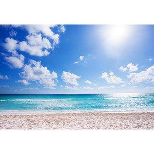 Beach Backdrop Blue Backdrop Background G-561