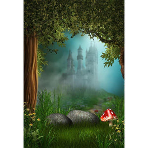 Kid Backdrops Cartoon Fairytale Backdrops Tree Background G-567