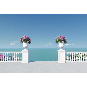 Beaches Backdrops Holiday Backdrops Ocean Flowers G-589