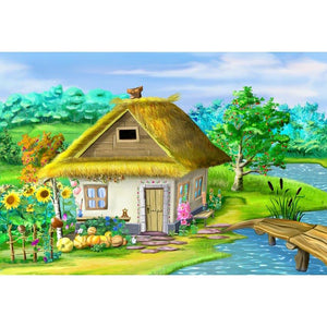 Kid Backgrounds Cartoon Fairytale Backdrops House Backdrops G-597