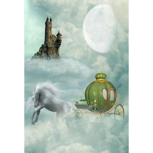 Baby Kid Backdrops Cartoon Fairytale Backdrops Sky Background G-623