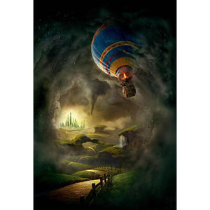 Baby Backdrops Cartoon Fairytale Backdrops Fire Ballon Backgrounds G-629