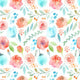 Patterned Backdrops Flower Backdrop Red And Blue Backgrounds G-630