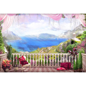 Door Backdrops Trees Backdrop Flowers Background G-657