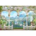 Door Backdrops Trees Backdrop Lakes Background G-661