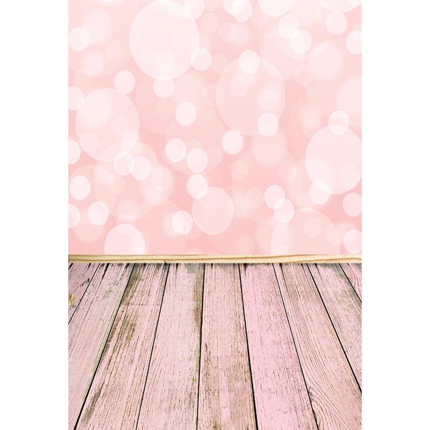 Wooden Backdrop Pink Background Polka Dot Printed Backdrops G-677