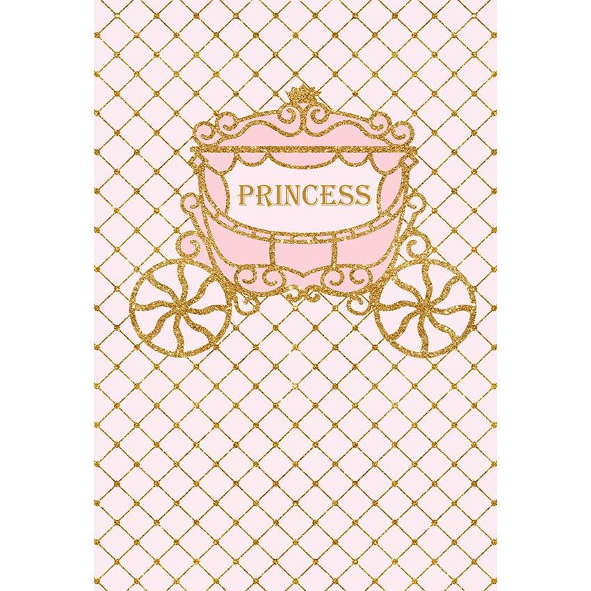Baby Show Backdrops Car Backdrops Pink Background G-680 - iBACKDROP-baby shower backdrop, custom, pink backdrop, princess backdrop