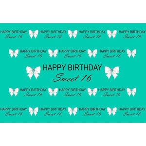 Birthday Party Backdrops Background Green Backdrop G-683