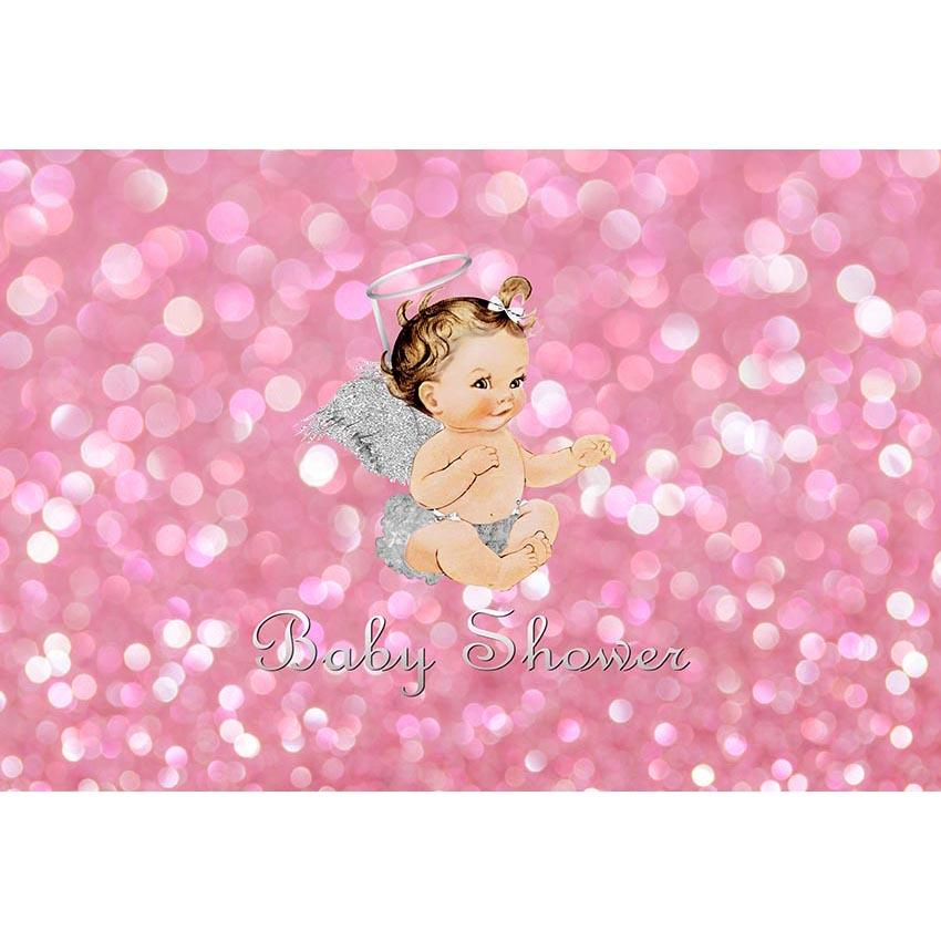 Baby Show Backgrounds Pink Backdrop G-688 - iBACKDROP-baby shower backdrop, custom, Little Girl Backgrounds, pink backdrop