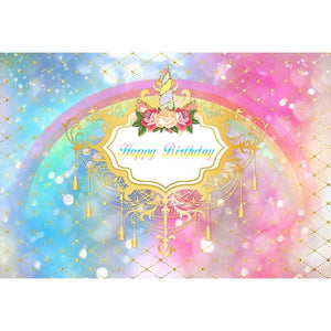 Birthday Backdrops Blue And Pink Backdrop Graffiti Background G-689