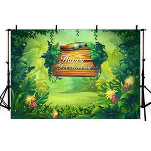 Birthday Backdrops Forest Background Green Backdrop G-701-1
