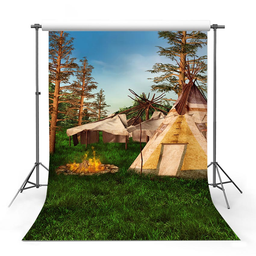 Scenic Backdrops Trees Parks Woodland Backdrops Tent Backgrounds G-703