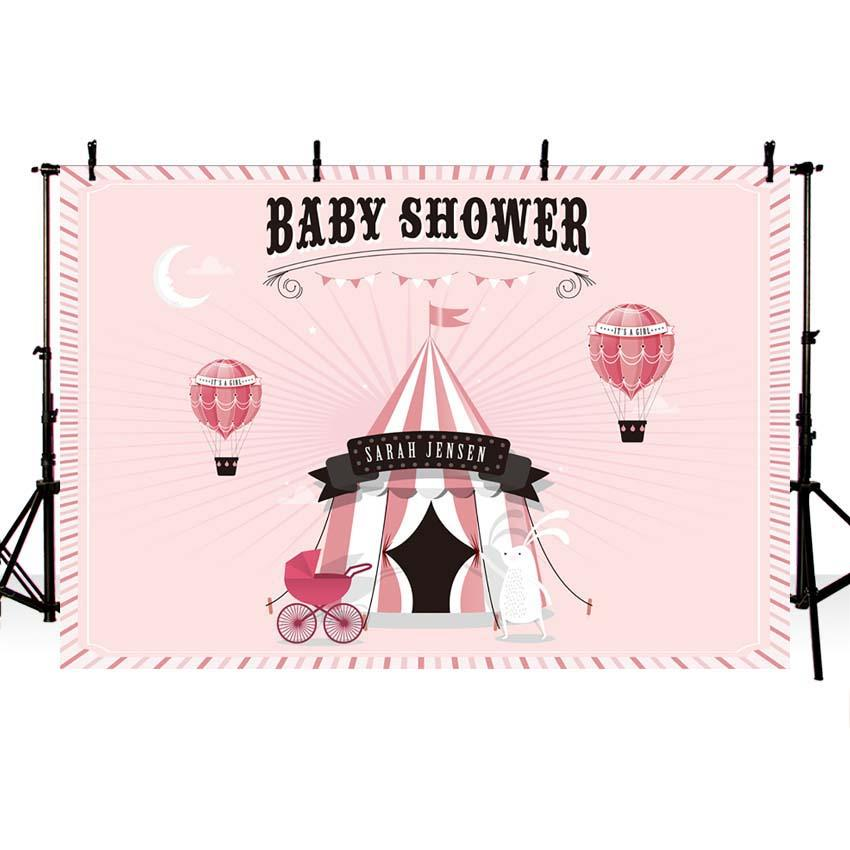 Baby Show Backdrops Girl Backgrounds Pink Backdrop G-707 - iBACKDROP-baby shower backdrop, custom, Little Girl Backgrounds, pink backdrop