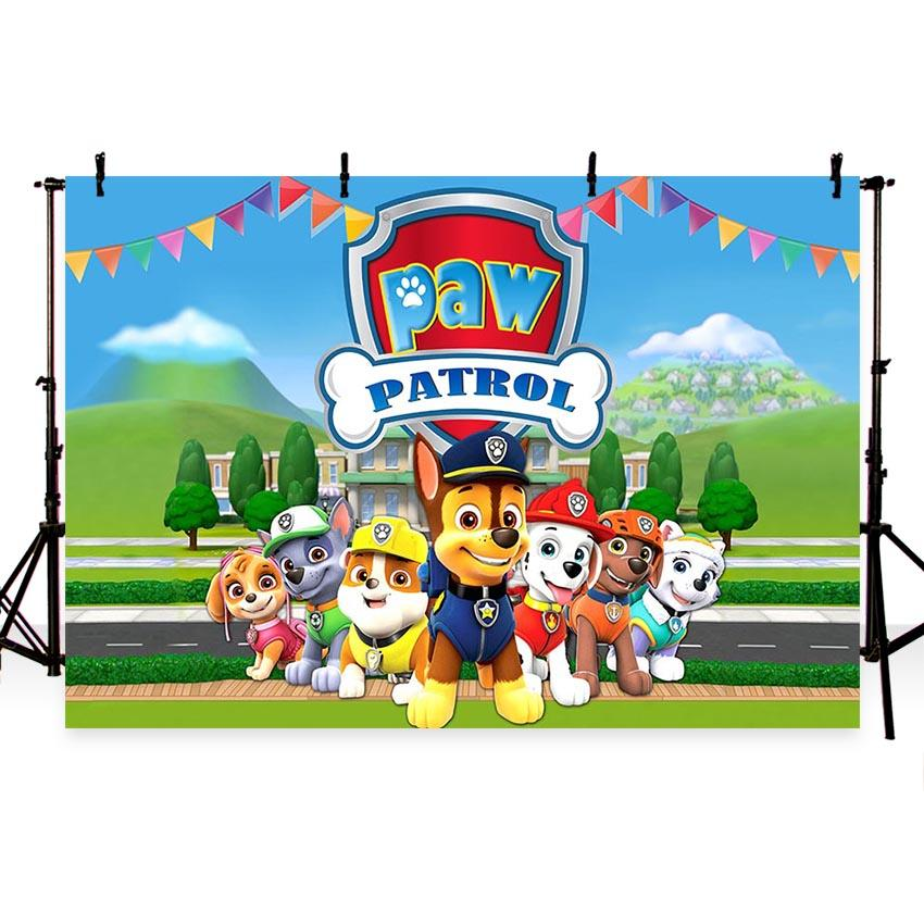 Baby Kid Backdrops Cartoon Fairytale Backdrops Dogs Backgrounds G-708