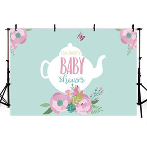 Baby Show Backgrounds Green Backdrop G-716