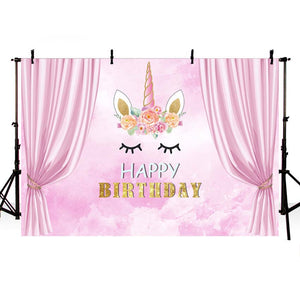 Birthday Backdrops Princess Backdrop Pink Backgrounds G-720-1