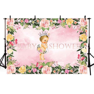 Baby Show Backgrounds Girl Backdrop Pink Backdrops G-722