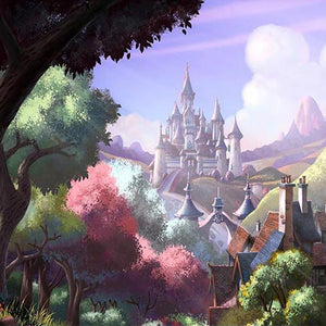 Castle Backdrops Trees Backdrops Purple Backgrounds G-726