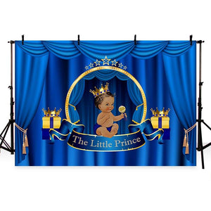 Baby Show Backdrops Boy Backgrounds Blue Backdrop G-730