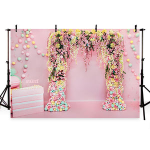 Wedding Backdrops Pink Backdrops Flowers Backgrounds G-737