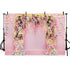 Wedding Backdrops Flowers Backgrounds Pink Backdrops G-741