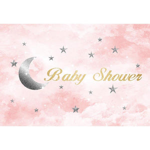 Baby Show Backgrounds Moon Backdrop Pink Backdrop G-747