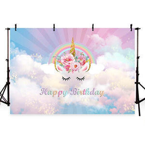 Birthday Backdrops Clouds Backgrounds Event Backdrops G-757
