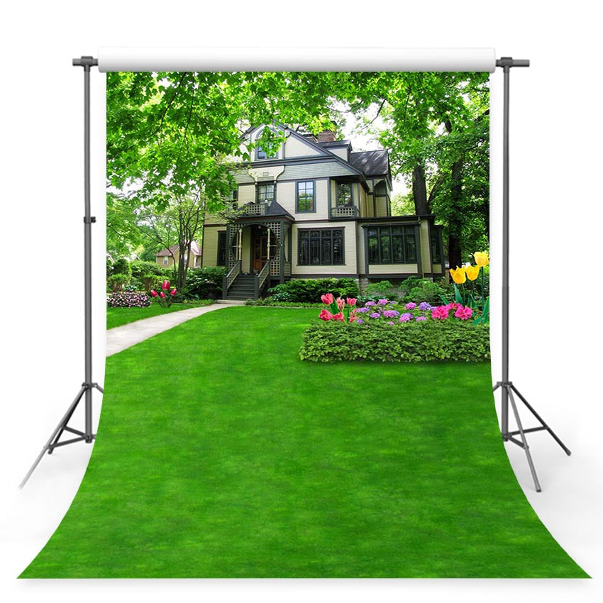 Scenic Backdrops Trees House Backdrops Garden Backgrounds G-764