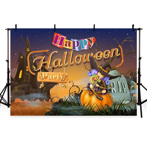 Halloween Backdrops Festival Backdrops Witch Background G-774