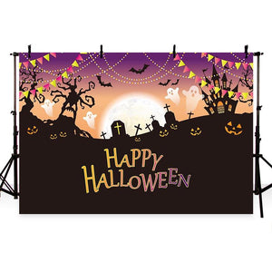 Halloween Backdrops Festival Backdrops Pumpkin Lantern Background G-775