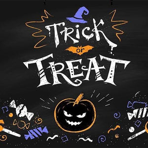 Pumpkin Background Halloween Backdrops Festival Backdrops Blackboard G-783