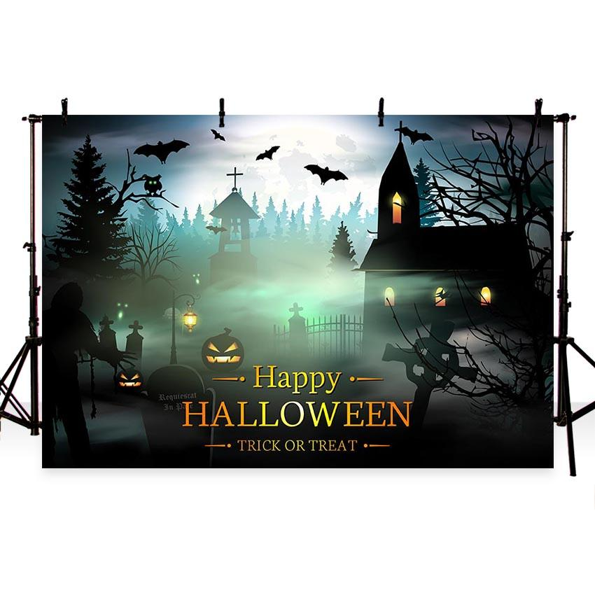 Halloween Backdrops Festival Backdrops Cheap Background Night G-789