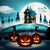 Festival Backdrops Halloween Pumpkin Lantern Background G-797