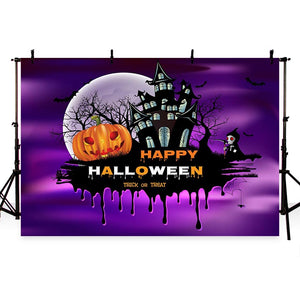 Festival Backdrops Halloween Themed Patterned Background G-798