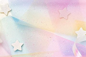 Girl Lovely Star Texture Background Baby Shower Backdrop for portrait IBD-19550