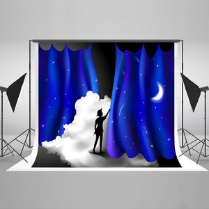 Baby Kid Backdrops Galaxy Backdrop Starry Night Background