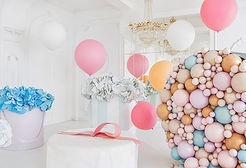Custom Backdrops Dessert Balloons Background Flower Backdrop HJ03824