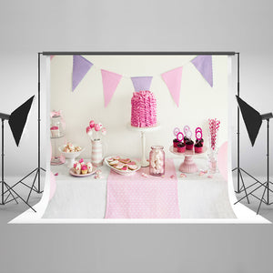 Custom Backdrops Dessert Table Party Background Cake Backdrops HJ03834