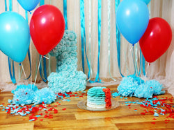 Dessert Table Party Backdrops Photo Background Balloons Backdrop HJ04896