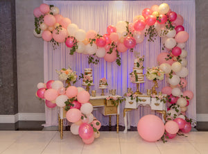 Indoor Wedding Scene Opening Balloon Curtain Background Relatives and Friends Photography Backdrop IBD-20031