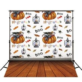 Festival Backdrops Halloween Backdrops Themed Patterned Background JO2637
