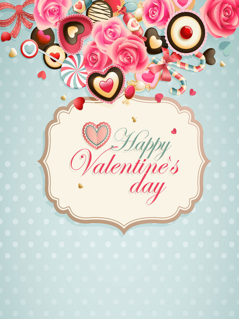 Festival Backdrops Valentine Day Background Candy Food Backdrops J02982