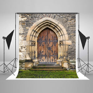 Scenic Backdrops Castle Door Backdrops Brick Wall Background