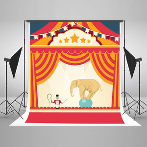 Baby Backdrops Circus Background Red Backdrop J04302