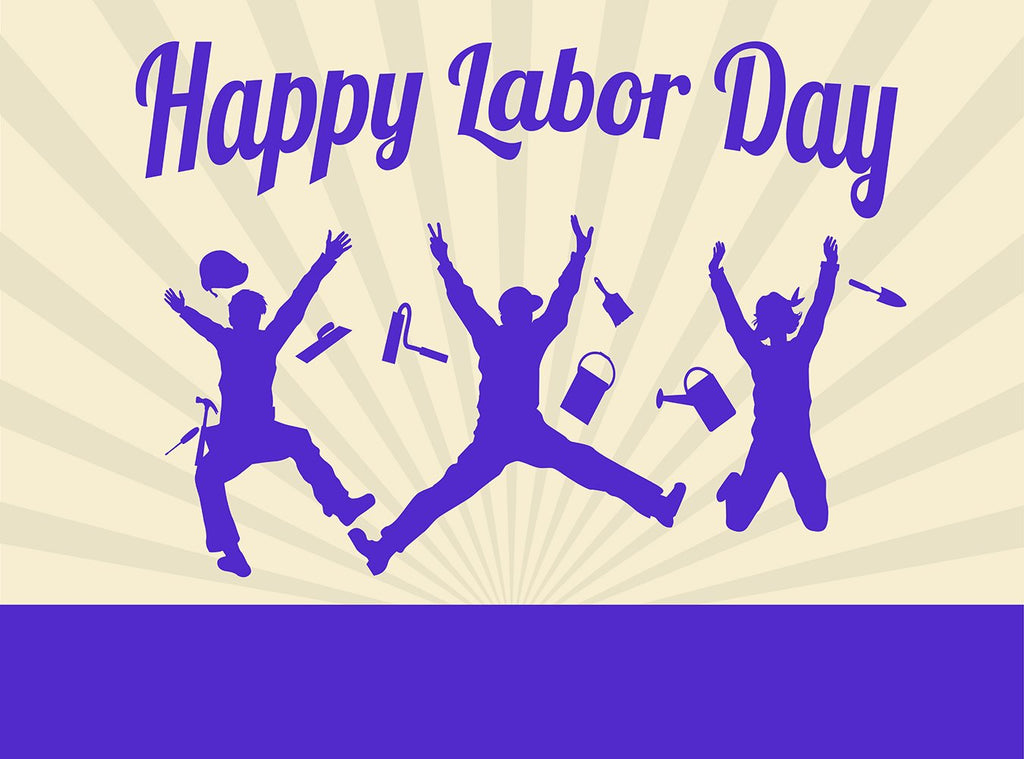Jump Celebration Workers' Labor Day Background Decoration Photo Backdrop IBD-19829