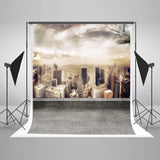 Scenic Background Cityscape Backdrop New York Backdrop Flat Roof LK-2959