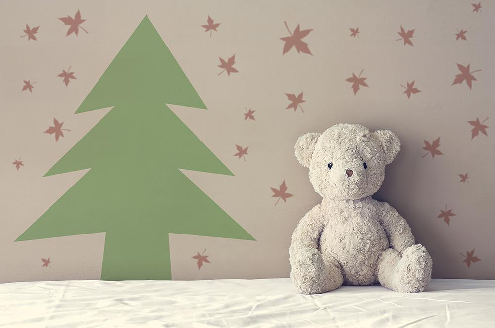 Lovely Chest Pine Background Christmas Backdrops IBD-19372