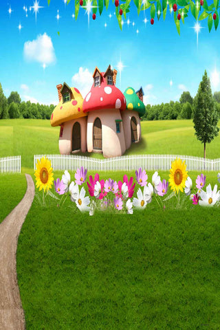 Kid Backdrops Cartoon & Fairytale Background Garden Backdrop N10182-E